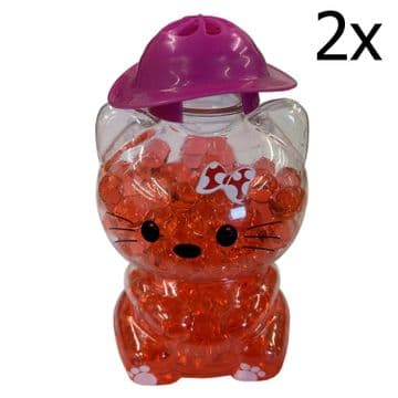 2 x RED ROSE CAT BUBBLE AIR FRESHENERS home car caravan motorhome bathroom truck